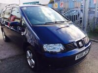 SEAT ALHAMBRA AUTOMATIC 1.9 DIESEL STYLANCE 7 SEATS 2005 PARKING SENSORS ALLOYS