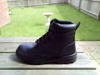 Safety Boots (Steel Toe Cap) - Black Size 8