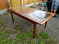 Italian style extendable Dining Table With removable Glass panels