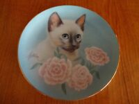 Decorative wall plate Siamese cat