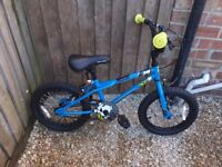 Childs 16 inch bmx with stunt pegs like new would make a great present