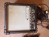 Guitar amp and microphone( with all cables)