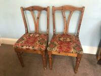 Pair of Antique Pine Ducal Dining Room Chairs Excellent condition R111