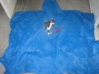 4 WATERPROOF PVC PONCHOS - ONE SIZE - BLUE - CAMPING