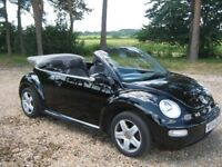 Gorgeous Beetle Cabriolet / Convertible 1.6L in Black