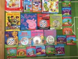 20 Books including 6 with CD and Game Bundle for Young Kids