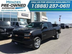 2016 Chevrolet Silverado 1500 Custom 4X4, Hands-Free, ONE OWNER,