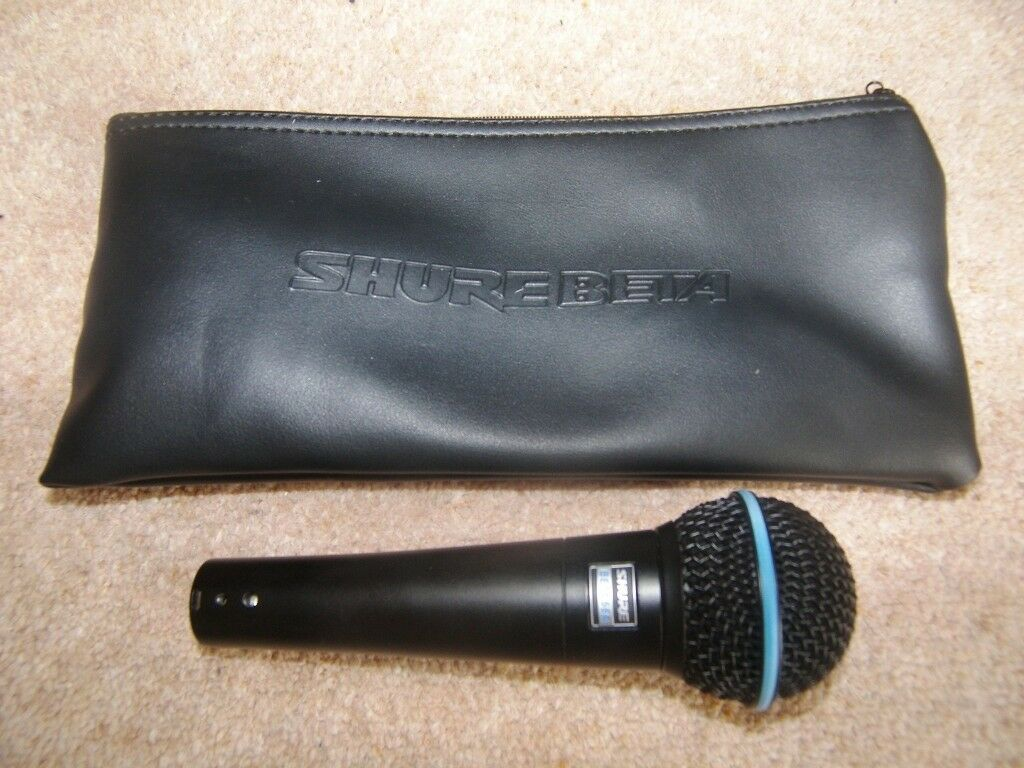 Shure Beta 58a Professional Vocal Dynamic Microphone Black Limited Edition Used