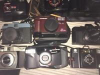 Joblot of old cameras