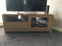 Oak effect sideboard and TV stand unit ..Solid oak lamp table..