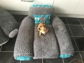 Extra Large Hand Made Dog Cuddle Chair Bed