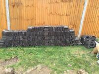 Vitros plain clay roof peg tiles & ridge tiles, 10x6 in weathered grey