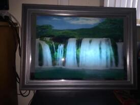 Electrical light up waterfall frame