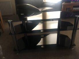 Glass (Black) TV Stand