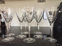 Lead crystal wine glasses set of 8