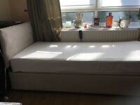 Adjustable Single bed with Memory foam Mattress.