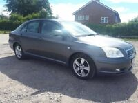 2005 TOYOTA AVENSIS T3-X 1.8 PETROL VERY SMOOTH TO DRIVE MOT TILL SEPT MAJOR SERVICE AT 99K