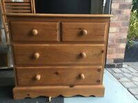 Pine chest of drawers, Woodthorpe, Nottinghamshire.