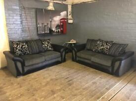 DFS SHANNON FABRIC SOFA SET IN GOOD CONDITION