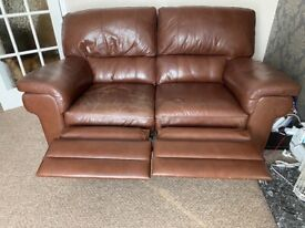 3&2 leather recliner sofas