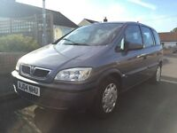 Vauxhall Zafira 1.6 low miles 7 seater