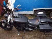 honda showdow vt750c2ba now matt black 12500 miles single seater come and lock