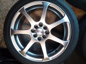multi stud alloy wheels with vg uniroyal tyres