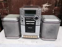 Philips CD player, radio, tape, aux