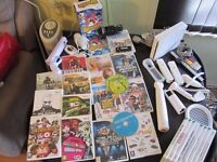 NINTENDO WII + 25 GAMES WITH LOTS OF ACCESSORIES 75 POUND ONO