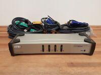 Aten CS-1744 4-Port Dual Monitor Keyboard Video Mouse (KVM) Switch