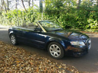 2007 (57) AUDI A4 TDI CABRIOLET CONVERTIBLE DIESEL AUTO AUTOMATIC METALLIC BLUE