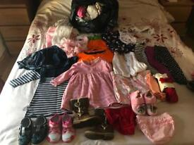 Loads of girls clothes size 6-9 months up to 2-3 years