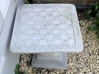 Beautiful Stone Chess Board Table - Great Addition to the Garden £75 ono. Collect from North Laine