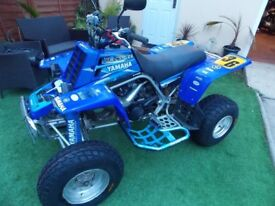 YAMAHA BANSHEE YZF 350S QUAD , 2001,BLUE,ROAD LEGAL,ELECTRICS,NEW TYRES, MOT, V5,VGC,PX & DELIVERY