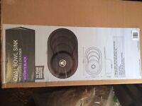 Black Oval Composite Sink - New in Box