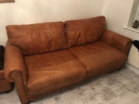 3 piece suite, 2 seater/ double sofa bed/ arm chair/ foot stall! DFS sofas one year old!