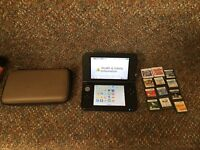 Nintendo 3DS XL with 12 games and charger
