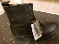 size 9 Jack Jones savek black mens boots