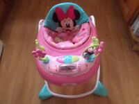 Minnie Mouse Baby Walker - Excellent Condition, Hardly Used