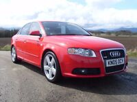2005 AUDI A4 2.0 TFSI QUATTRO S LINE RED PETROL MOT APR 17 £4750 OLDMELDRUM