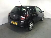 Vauxhall Corsa SXI 3 Door 1.2 Petrol Black 2009 model LONG MOT