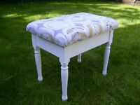 Wooden dressing table stool