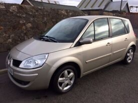 2007 renault scenic extreme vvt-1596 cc 5door mpv.one lady owner 64000 miles
