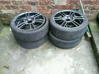 Alloys with excellent 17 inches tyres
