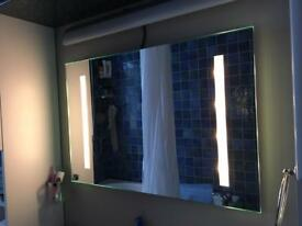 Bathroom mirror with lights.