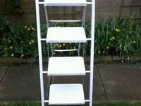Metal step ladder.