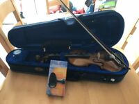Half-size Stentor violin with case and accessories