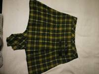 NEXT green tartan skirt