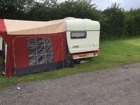 ABI Ace Diplomat 2 berth touring Caravan 1994 with awning