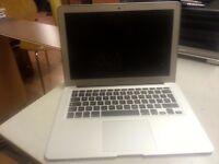 MacBook Air 11.6-inch silver, core i5, Storage-64GB SSD flash drive, Memory-4GB, Mid 2012.